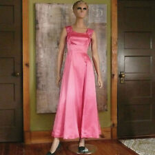 b07fb23acc New ListingVintage 1970 s Mike Benet Pink Satin with Sequin Dress Gown  Formal Prom Size 2