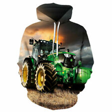 John Deere Tractor Unisex Man Woman Hoodie Sweatshirt Hood Jumper Pullover UK2