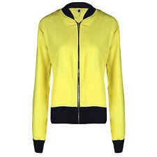 Womens Ladies Retro MA1 Bomber Summer Jacket Coat Vintage Army Biker Flight New