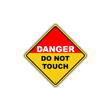 Danger Do Not Touch High Voltage Security Fence Metal Aluminum Sign 12x12