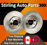 Prime Choice Auto Parts R41167PR Front Pair 2 Brake Rotors 6 Stud