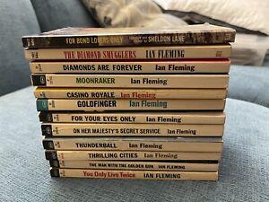 11 James Bond 007 Ian Fleming Lot Vintage Signet Dell Plus Bonus Collectible
