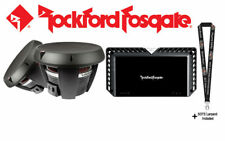 "Rockford Fosgate Two 12"" dual 4-ohm subwoofers & Power Series mono sub amplifier"