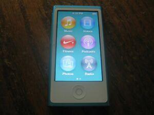 Gently Used Apple iPod nano 7th Generation Blue (16 GB)