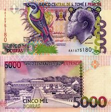 SAO TOME 5000 Dobras Banknote World Paper Money aUNC Currency Pick p65a 1996