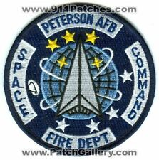 Peterson Air Force Base AFB Fire Department Space Command USAF Military Patch Co
