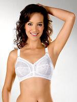 Lace Cups Bra Firm Control White Plus Sizes 34 36 38 40 42 44 46 48 B C D DD E F