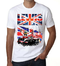 LEWIS HAMILTON Mens T shirt Kids World Champion  Racing White DT