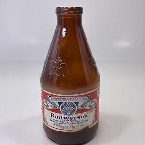 Ultra Rare! 1978 Budweiser Airplane Sized Empty Sample Beer Bottle 7 fl oz