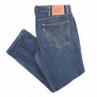 LEVI'S 511 Blue Denim Slim Straight Jeans Mens W36 L28