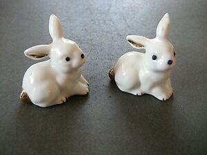 Osterdeko , Porzellan-Hasen, 2 Stück