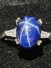 Natural Blue Sapphire Star 6.40 Ct  fine Gemstone ringsize  N