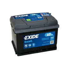 1x Exide Excell 54Ah 520CCA 12v Car Battery 3 Year Warranty - EB602 TYPE 075