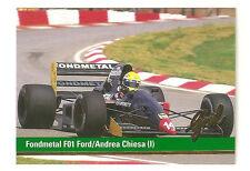 Andrea Chiesa | F1 Fondmetal F01 Ford | Formula 1 Racing