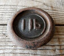 Vintage 1lb Cast Iron Weight for Kitchen Weighing Scale Kitchenalia Paper Weight