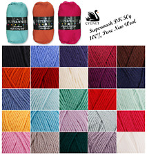 Cygnet Pure Wool Superwash DK Knitting Yarn 50g | 25 Shades | *FREE P&P*