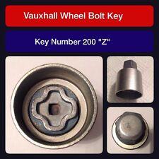 "Genuine Vauxhall Locking Wheel Bolt / Nut Key 200 ""Z"""