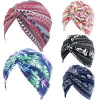 Women Scarf Twist Knot Cancer Chemo Cap Muslim Turban Hat Hijab Head Wrap Cover