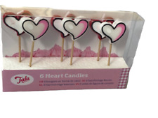 Fun Candles Heart Shaped 6 in Pack
