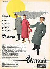 PUBLICITE ADVERTISING 124  1957  BLIZZAND   vetements de pluie imperméables