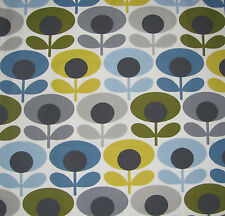 Orla Kiely OVAL FLOWER MARINE BLUE sizes 100 50 25cm FQ square 1M new fabric