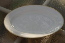 Vintage Pope & Gosser Oval Serving Platter w /Gold Trim, collectible