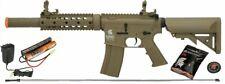 TAN Lancer Tactical M4 GEN 2 SD Airsoft Gun Rifle AEG Metal Gear Raider + 9.6v