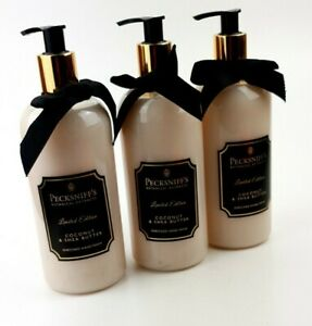3x 500ml Pecksniffs Enriched Hand Wash Shea Butter, coconut extract