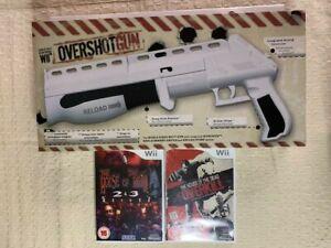 Wii Overshot Gun Shotgun Light Gun Oxygame Plus House of Dead 2, 3 & Overkill