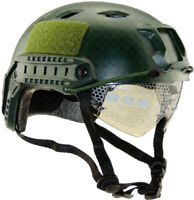 Tactical Airsoft Paintball Climbing Protective Combat FAST Helmet w Goggle New