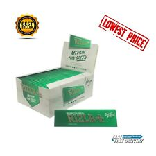 RIZLA GREEN KING SIZE SLIM CIGARETTE SMOKING ROLLING PAPERS GENUINE ORIGINAL