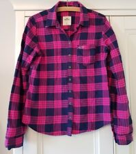 Woman's/Girl's HOLLISTER PINK & BLUE CHECK SHIRT/TOP/BLOUSE - Size SMALL