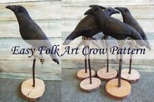 Primitive Grunge Folk Art Crow Halloween Autumn Bird Pattern