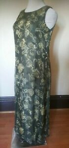 Spring Casual Corner Sleeveless Long Layered Split Sided Maxi Dress Floral sz.12
