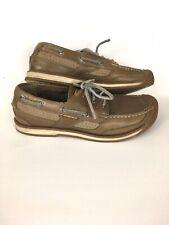 Keen $135 Newport Boat Shoes Mens Sz 9 Beige Leather Waterproof Sport Bumper Toe