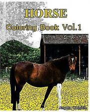 Horse: Coloring Book (Vol.1): Sketch Coloring Book by Catnich, Angela -Paperback