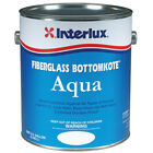 Interlux Fiberglass Bottomkote Aqua Antifouling Paint Boat Black Quart Yba579-q