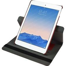 Couverture en cuir artificiel Apple iPad Air 2 360° optique de denim rouge