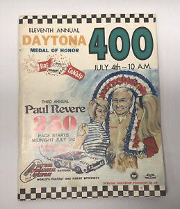 1969 11th Annual Daytona Medal Of Honor 400 NASCAR Race Program Firecracker 400