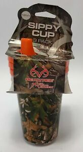 Realtree Sippy Cup Pack of 3 Camouflage Design 18 Months Plus RTSWSCGRN