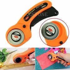 45mm Rotary Cutter Premium Quilters Sewing Quilting Fabric Cutting Craft Tool #S