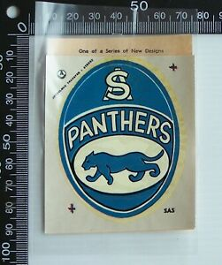 VINTAGE SANFL SOUTH ADELAIDE FOOTBALL CLUB PANTHERS ARTCOLOUR TEAM LOGO TRANSFER