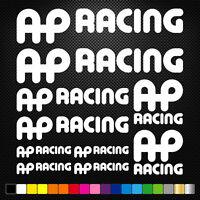 compatible AP RACING 10 Stickers Autocollants Adhésifs Auto Moto Voiture Sponsor