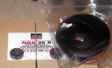 2Tweeter AXIOM NDX 25S a 4 ohm, sensib.93 dB, cupola seta, bobina 25mm,accessori