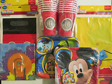 MICKEY MOUSE PARTY TIME ! Birthday Party Supplies Set Pack Kit  w/ Treat Bags