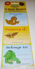 New 12 The Land Before Time ~ Name Labels Stickers ~Great For Backpacks & Books