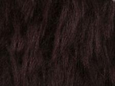 Dark Brown Plain Faux Fur Fabric Short Hair 150cm Wide SOLD BY THE METRE