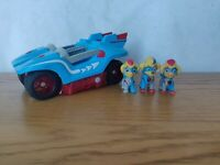 Paw Patrol Mighty Twins Vehicle Plus 3 Figures Including Rare Ella & Tuck 🐾