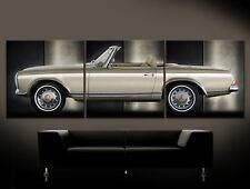 MERCEDES 230 250 280 SL Leinwand Bild W 113 Pagode Roadster Sportwagen Vintage