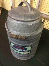 Gott Old Galvanized Thermos Type Gotkool Water Can Gott Mfg. Winfield Kansas